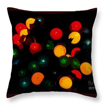 Flower Light Bunch Throw Pillow