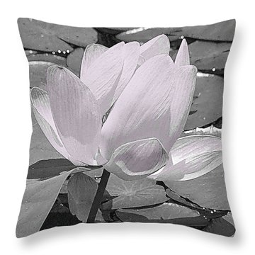 Flower Lilly Pad Throw Pillow by Steve Archbold