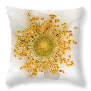 Flower Macro Throw Pillow