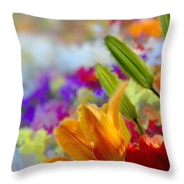 Flower Market 1 Throw Pillow