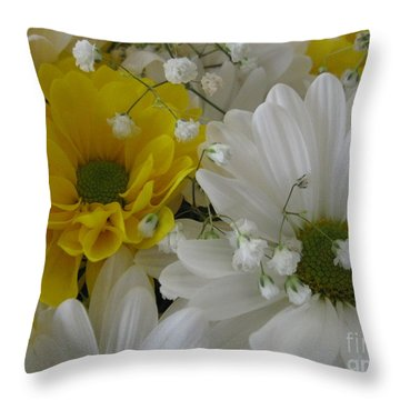 Flower Mix Throw Pillow