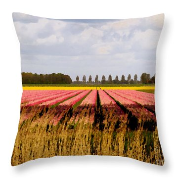 Throw Pillow featuring the photograph Flower My Bed by Luc Van de Steeg