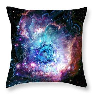 Flower Nebula Throw Pillow by Anastasiya Malakhova