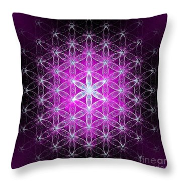 Flower Of Life Simply Throw Pillow