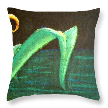 Flower Of The Water Throw Pillow