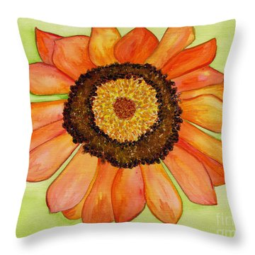 Flower Orange Throw Pillow