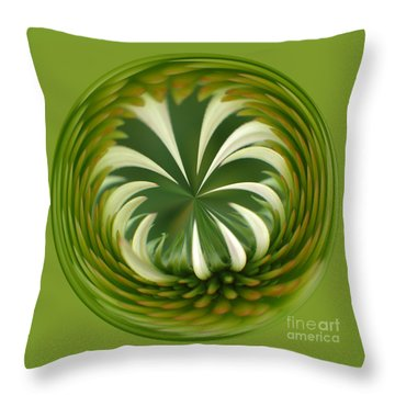 Flower Orbital II Throw Pillow