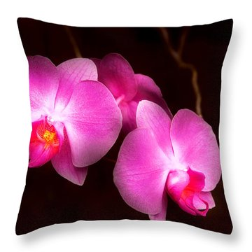 Flower - Orchid - Better In A Set Throw Pillow by Mike Savad