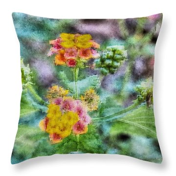 Flower Pastel 2 Throw Pillow