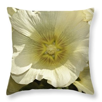 Flower Petals Of A White Flower Throw Pillow by Ashish Agarwal