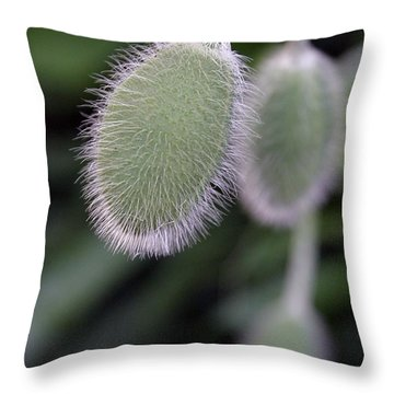Throw Pillow featuring the photograph Flower Pod by Henry Kowalski