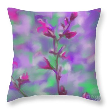 Throw Pillow featuring the painting Flower Power 1 by Go Van Kampen