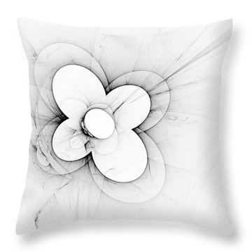 Flower Power Throw Pillow by Arlene Sundby