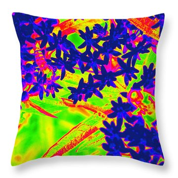 Throw Pillow featuring the photograph Flower Power by Cathy Shiflett