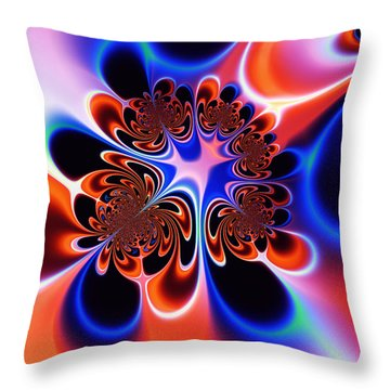 Flower Power Throw Pillow by Ian Mitchell