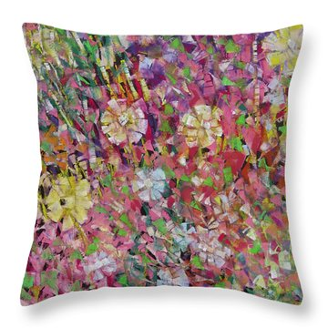 Flower Power Throw Pillow by Katie Black