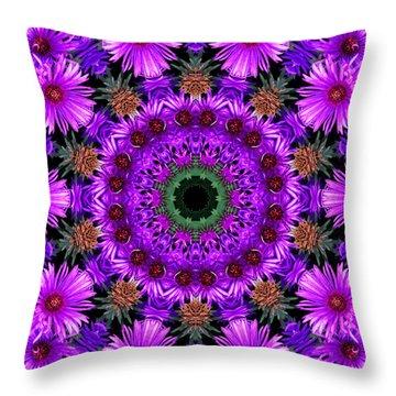 Flower Power Throw Pillow by Kristie  Bonnewell