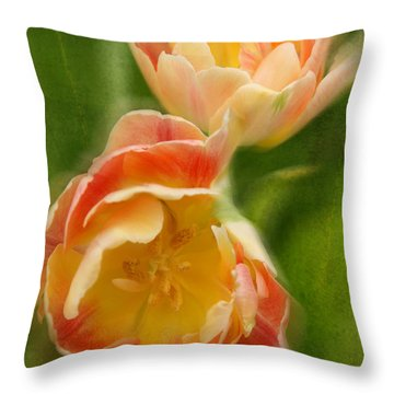 Flower Power Revisited Throw Pillow