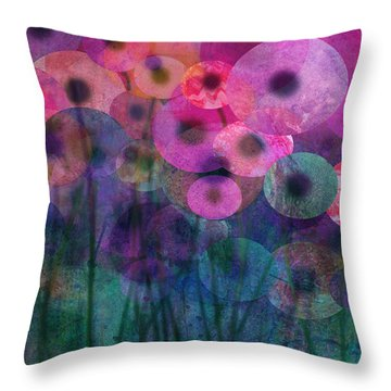 Flower Power Six Throw Pillow by Ann Powell