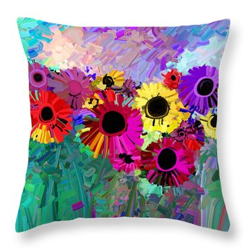 Flower Power Two Throw Pillow