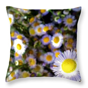 Throw Pillow featuring the photograph Flower Power by Tyson Kinnison
