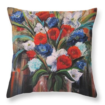 Flower Pride Throw Pillow