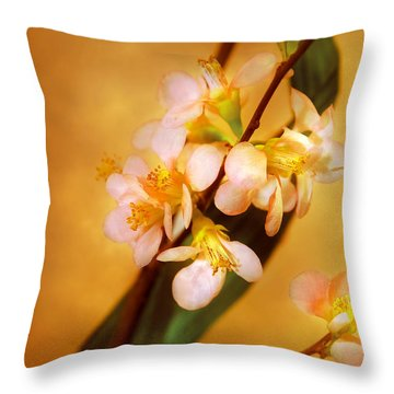 Flower - Sakura - A Touch Of Spring Throw Pillow by Mike Savad