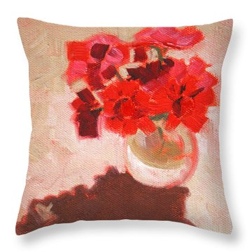 Flower Shadows Still Life Throw Pillow