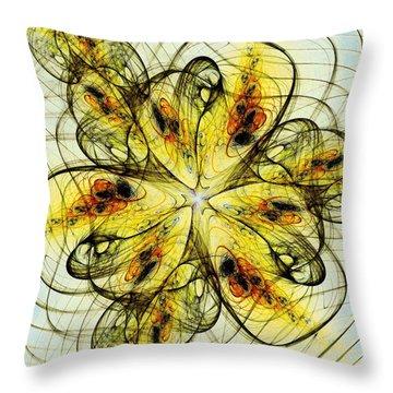 Flower Sketch Throw Pillow by Anastasiya Malakhova