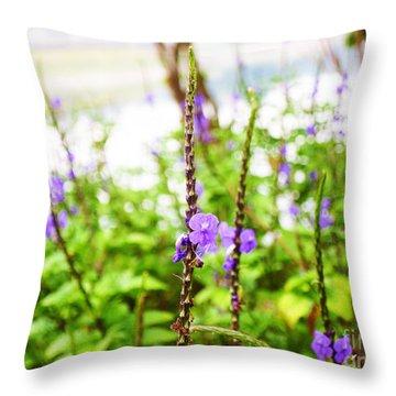 Flower Smile Throw Pillow