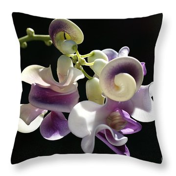 Flower-snail Flower Throw Pillow