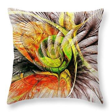 Flower Spirit Throw Pillow by Anastasiya Malakhova