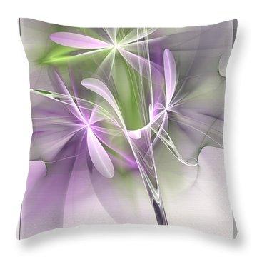 Flower Spirit Throw Pillow by Svetlana Nikolova