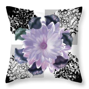 Flower Spreeze Throw Pillow