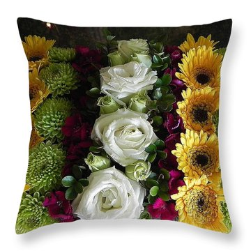 Flower Stand # 1 Throw Pillow