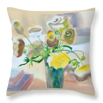 Flower Still Life          Throw Pillow by Kathy Braud