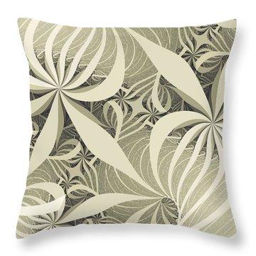 Flower Swirl Throw Pillow