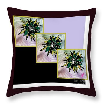 Flower Time Throw Pillow by Ann Calvo