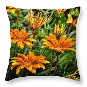 Flower Town Throw Pillow