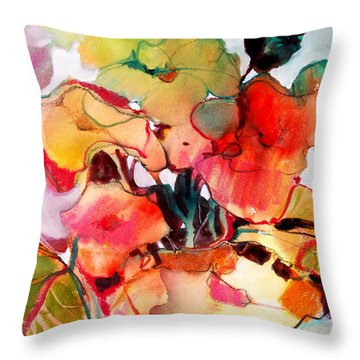 Flower Vase No. 2 Throw Pillow by Michelle Abrams