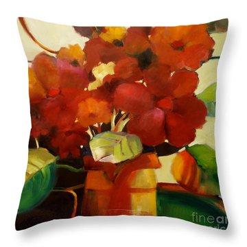 Flower Vase No. 3 Throw Pillow