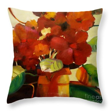Flower Vase No. 3 Throw Pillow by Michelle Abrams