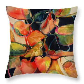 Flower Vase No. 5 Throw Pillow