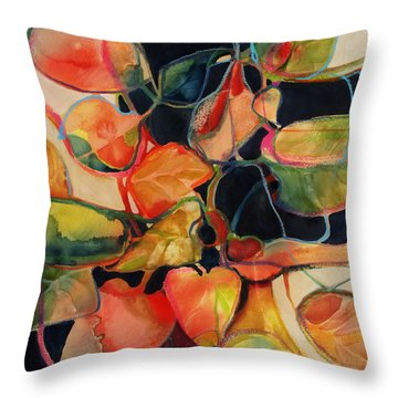 Flower Vase No. 5 Throw Pillow by Michelle Abrams