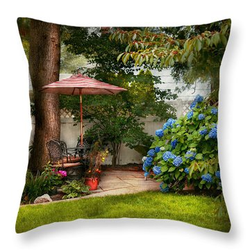 Flower - Westfield Nj - Private Paradise Throw Pillow by Mike Savad