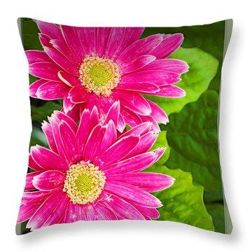 Flower1 Throw Pillow by Walter Herrit