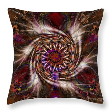 Flowercracker   Throw Pillow by Elizabeth McTaggart