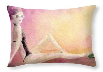 Bathing Throw Pillows