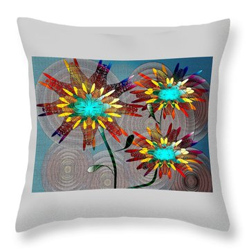 Flowering Blooms Throw Pillow