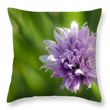 Flowering Chive Throw Pillow